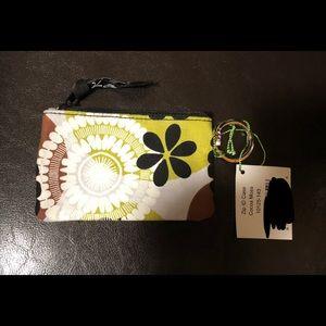 Vera Bradley NWT ZIP ID Case in Cocoa Moss